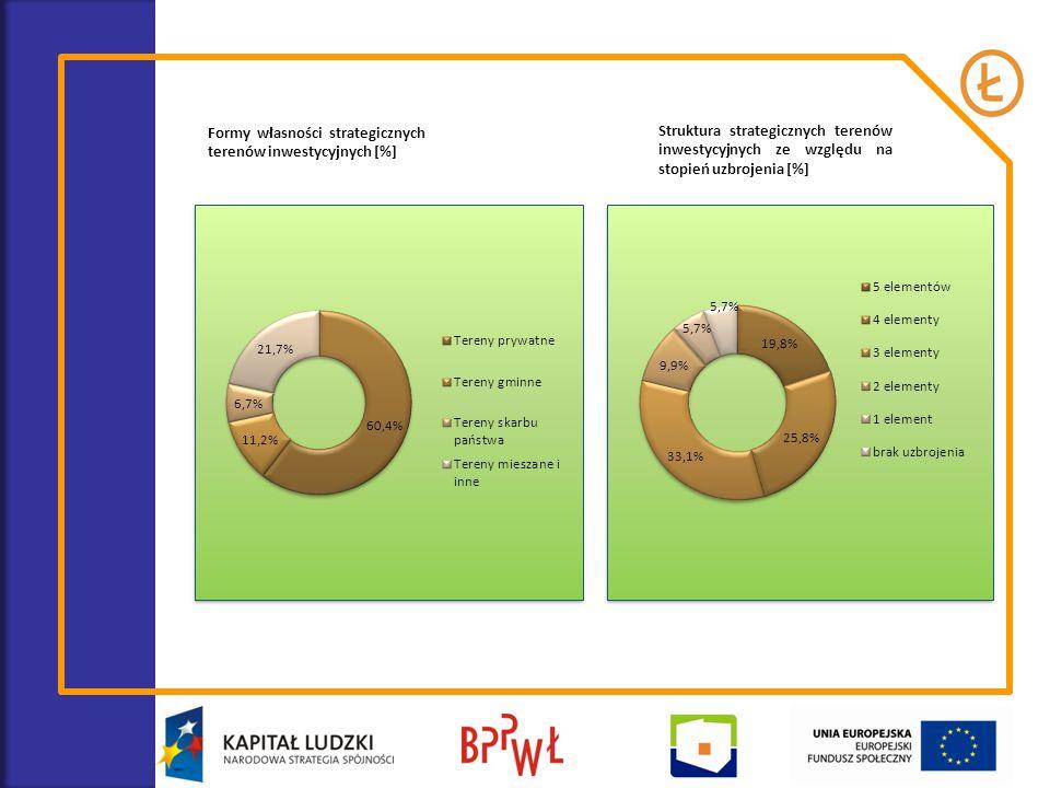 Formy własności strategicznych terenów inwestycyjnych [%]